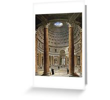 Vintage famous art - Giovanni Paolo Panini - The Interior Of The Pantheon, Rome Greeting Card