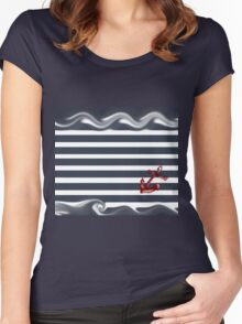 Navy Collection  Women's Fitted Scoop T-Shirt