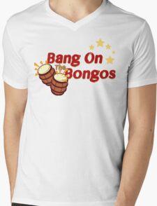 Bang on the Bongos Mens V-Neck T-Shirt