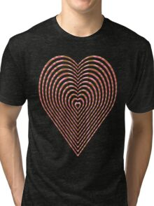 Elegant love heart style Tri-blend T-Shirt