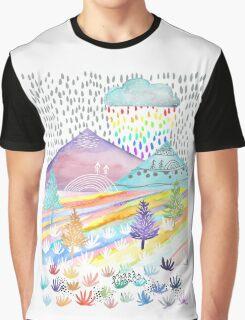 Watercolour Landscape Graphic T-Shirt