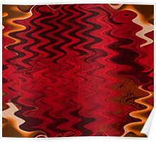 Red black abstract Poster