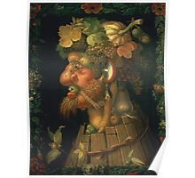 Vintage famous art - Giuseppe Arcimboldi - Autumn, From A Series Depicting The Four Seasons  Poster