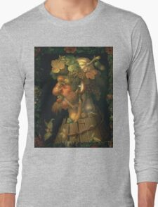 Vintage famous art - Giuseppe Arcimboldi - Autumn, From A Series Depicting The Four Seasons  Long Sleeve T-Shirt