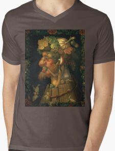 Vintage famous art - Giuseppe Arcimboldi - Autumn, From A Series Depicting The Four Seasons  Mens V-Neck T-Shirt
