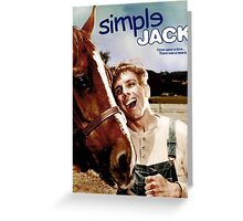 SIMPLE JACK TROPIC THUNDER POSTER Greeting Card