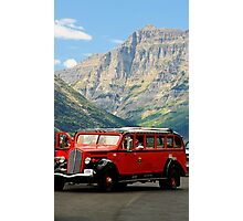 Vintage Red Bus Photographic Print