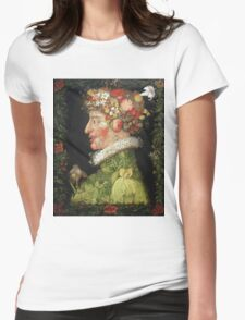 Vintage famous art - Giuseppe Arcimboldi - Spring, From A Series Depicting The Four Seasons  Womens Fitted T-Shirt