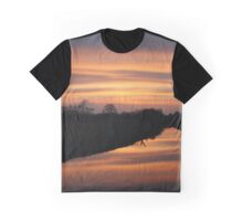 Mirror sunset Graphic T-Shirt