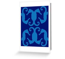 Seahorses ink 3 Greeting Card