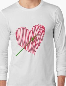 Heart  unique and  retro  Long Sleeve T-Shirt