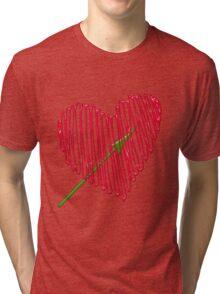 Heart  unique and  retro  Tri-blend T-Shirt