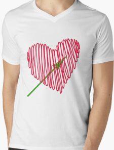 Heart  unique and  retro  Mens V-Neck T-Shirt