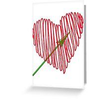 Heart  unique and  retro  Greeting Card
