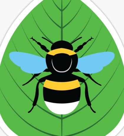 Bombus Terrestris on Leaf Sticker