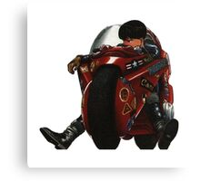 Kaneda on his bike Canvas Print