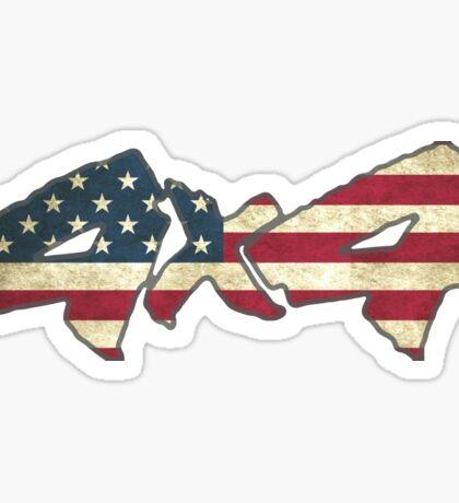 4x4 American Flag Sticker