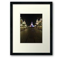 Empty Main Street at night Framed Print