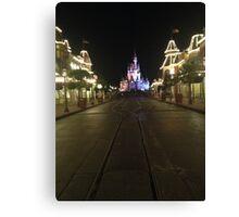 Empty Main Street at night Canvas Print