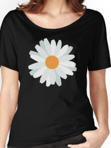 White Daisy Women's Relaxed Fit T-Shirt