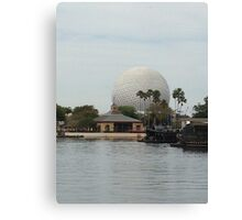 Spaceship Earth across from the lagoon Canvas Print