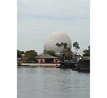 Spaceship Earth across from the lagoon Photographic Print