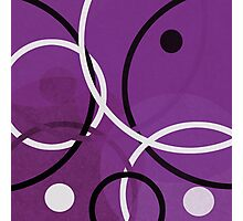 Random Purple Photographic Print