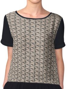 optical triangles (vintage) Chiffon Top