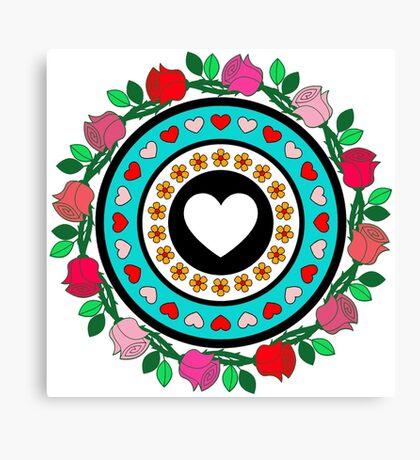Floral Hearts!  Canvas Print