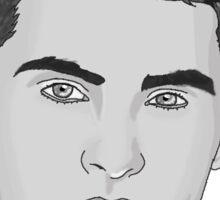 Cody Christian - Black and White Sticker