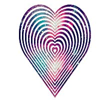 beautiful heart style galaxy Photographic Print