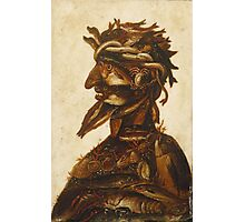 Vintage famous art - Giuseppe Arcimboldi - The Four Elements - Water Photographic Print