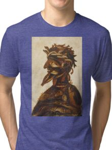 Vintage famous art - Giuseppe Arcimboldi - The Four Elements - Water Tri-blend T-Shirt