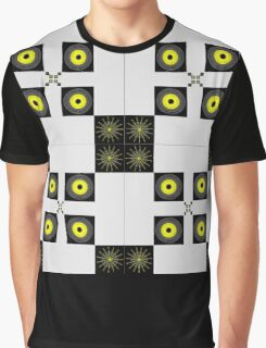 Summer Storm in Gray and Yellow, Geometric Pattern Graphic T-Shirt