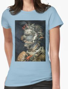 Vintage famous art - Giuseppe Arcimboldi - Water Womens Fitted T-Shirt