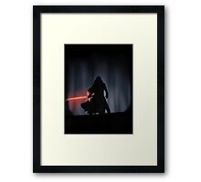 Kylo Ren in the Forest Framed Print