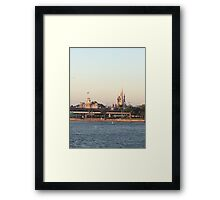 Magic Kingdom from the ferry boat Framed Print