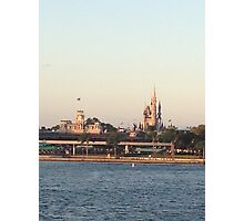 Magic Kingdom from the ferry boat Photographic Print