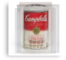 Campbell's Soup Can Overlay Canvas Print