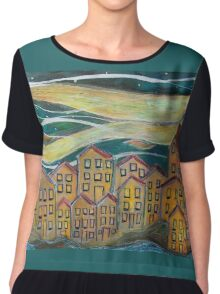 Sea Shanty - Sailors Songs Drifting in from the Sea Chiffon Top