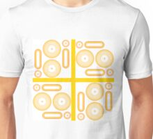 Summer in Red, Orange and Yellow with Orange Cross Unisex T-Shirt