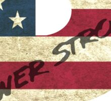 Powerstroke American Flag Sticker
