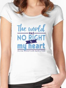 The World Has No Right - Hamilton Women's Fitted Scoop T-Shirt