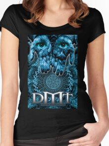 DMT - Blue Hands Women's Fitted Scoop T-Shirt