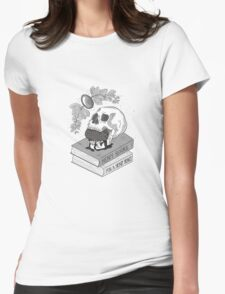 Heavy Books For A Heavy Heart Womens Fitted T-Shirt