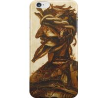 Vintage famous art - Giuseppe Arcimboldi - The Four Elements - Water iPhone Case/Skin