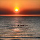 Sculling on The Gulf by Imagery