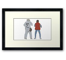 Back (s) to the Future  Framed Print