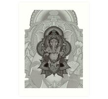 Ganesha2 - white Art Print
