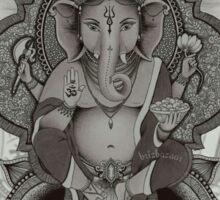 Ganesha2 - white Sticker